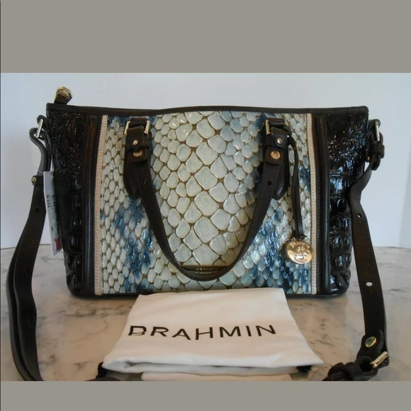 Brahmin Handbags - New BRAHMIN Mini Asher GLACIER CARLISLE COLLECTION